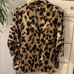 Leopard blouse (Nasty Gal)